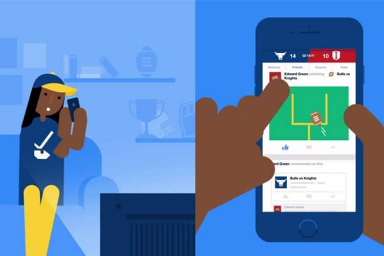 Uno schermo non basta più: Facebook introduce Sports Stadium,  l'app da usare guardando le partite
