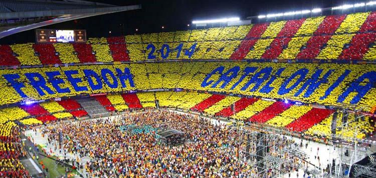 Copa del Rey : una bandiera per l'indipendenza della Catalogna