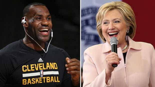 LeBron James scende in campo per Hillary Clinton