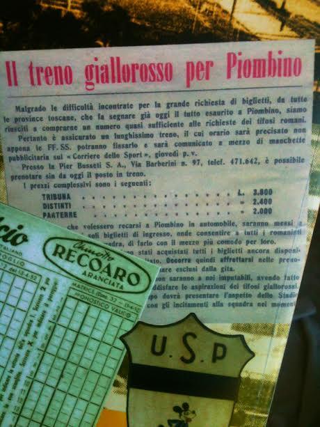 Il treno speciale per i romanisti diretti a Piombino