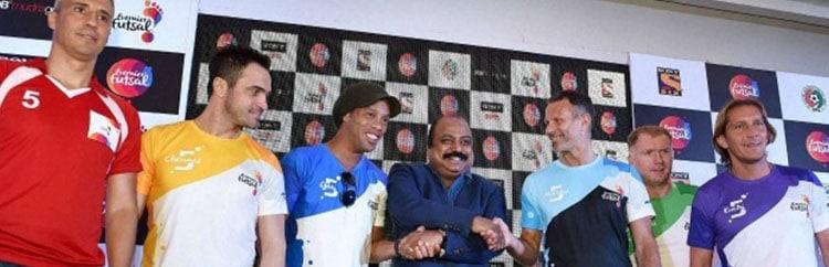 Premier Futsal League: Dinho, Giggs e Co. si sfidano nell'evento di calcio a 5 più seguito al mondo