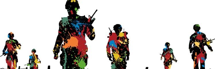 Dai taglialegna canadesi a fenomeno di massa: il Paintball, non chiamatelo guerra
