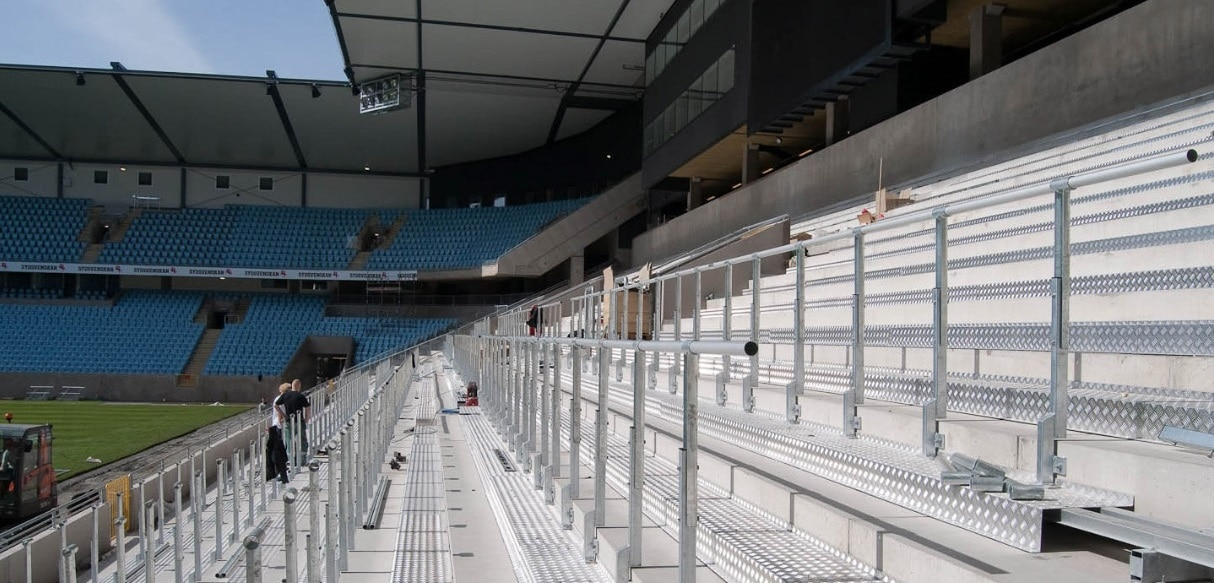 standing areas