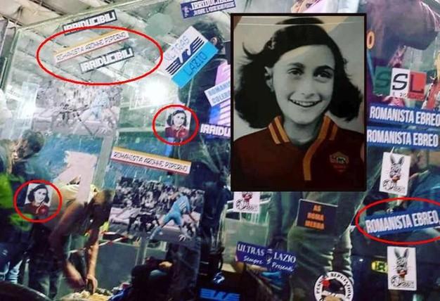 Adesivi Anna Frank: la politica condanna e la Lazio prende le distanze