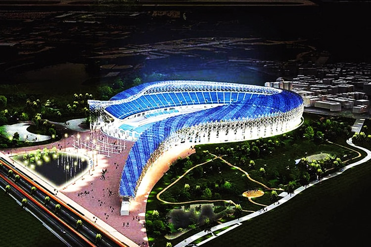 Kaohsiung World Stadium di Taiwan: il serpente solare per un calcio sostenibile